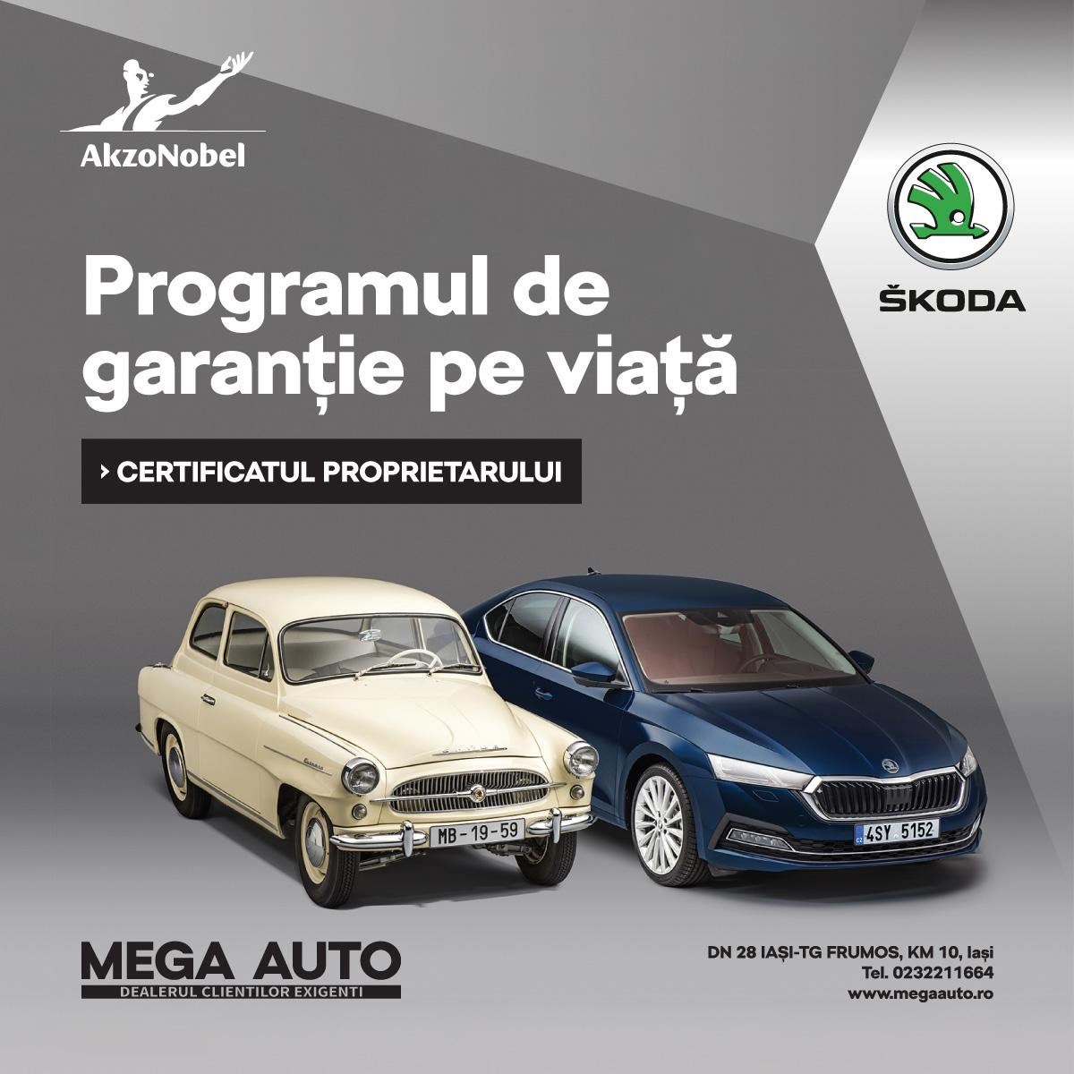 La ŠKODA Iași ai parte de garanție pe viață la vopsitoria auto
