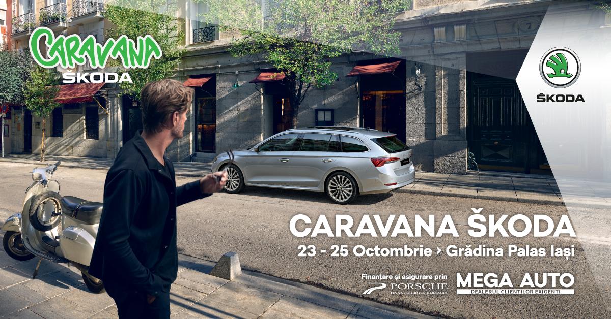 Mag Automobile aduce Caravana ŠKODA în Grădina Palas în perioada 23-25 octombrie