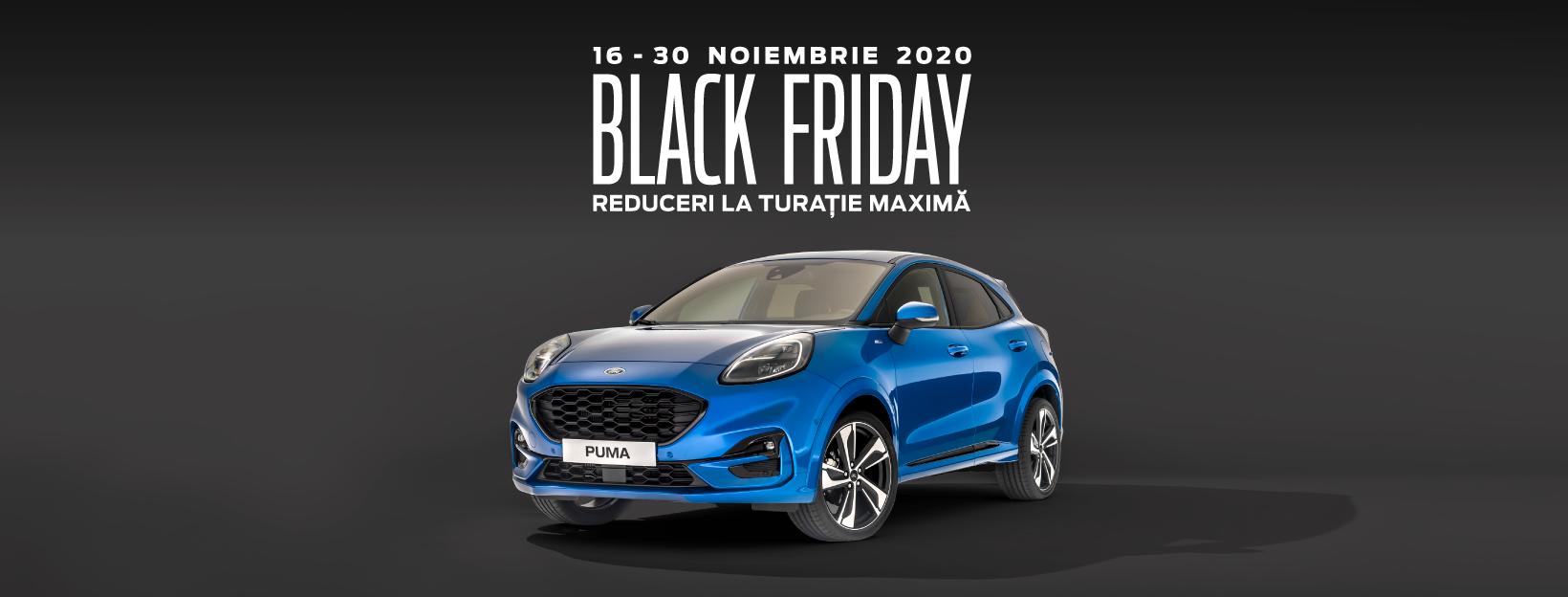 Prinde reducerile de Black Friday la Ford