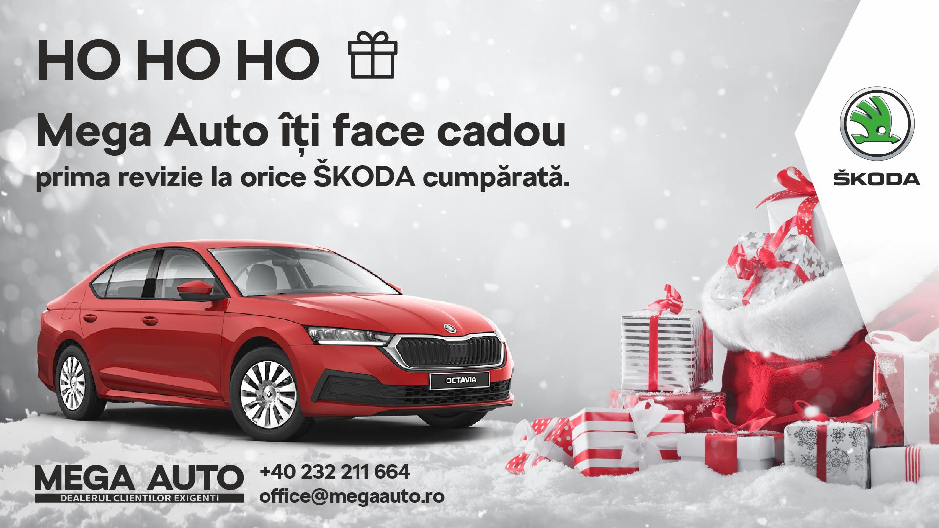 Ho, Ho, Ho a început luna cadourilor la Mega Auto – ŠKODA Iași