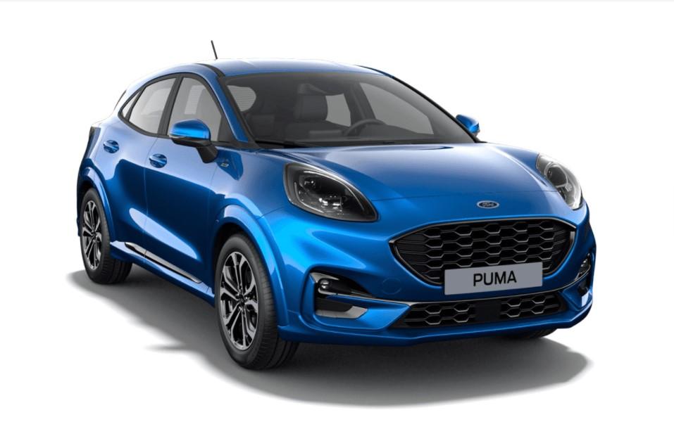 Ford Puma SIP 5 usi ST Line Design 1.0l EcoBoost mHEV 125 CP MT – Desert Island Blue – varianta 1