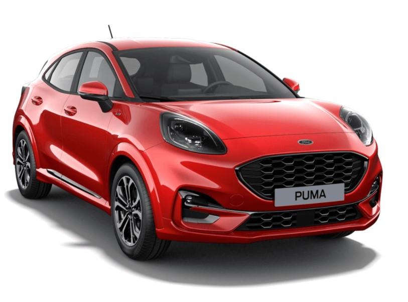 Ford Puma SIP 5 usi ST Line Design 1.0l EcoBoost mHEV 125 CP AT – Fantastic Red