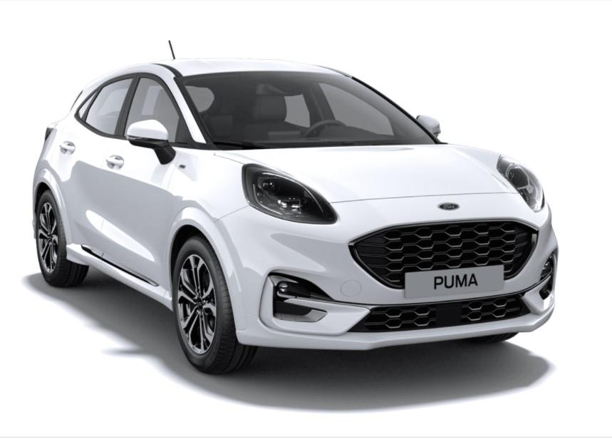 Ford Puma SIP 5 usi Titanium Design 1.0l EcoBoost mHEV 125 CP AT – Frozen White